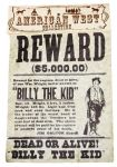 Replica Billy The Kid Wanted Poster